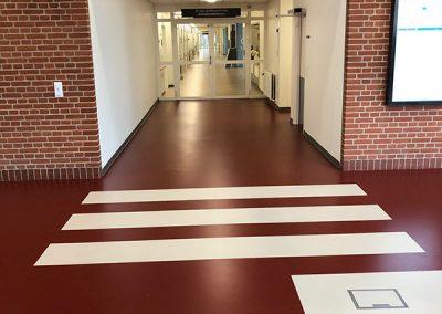 Det Nye Universitetshospital fodgængerfelt