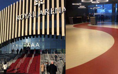 Kunststofgulvene på Royal Arena er afleveret