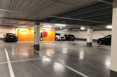 Belægninger til parkeringshuse og parkeringskældre
