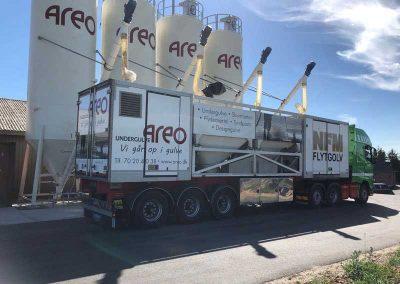 areo lastbil og siloer