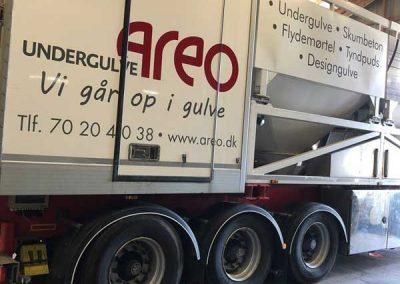 areo undergulve lastbil branding