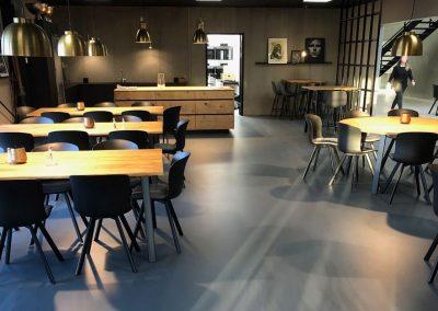 Fugefri gulve til Sport 24's nye hovedkontor